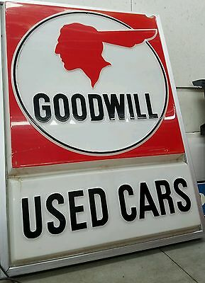 Pontiac dealer sign good will used cars 68 X 50 inches