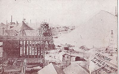 Postcard gold mining scene Western Australia by The Sunday Times, scarce