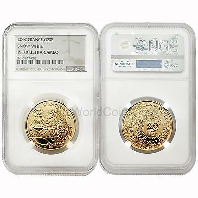 France 2002 Snow White 20 Euro Gold NGC PF70 ULTRA CAMEO
