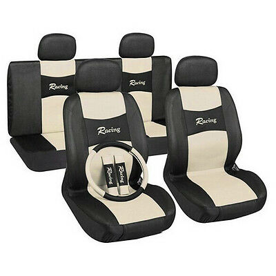 New Style Beige Cotton Car Seat Cover Set Cushion Protector Mat Pad For Car Care