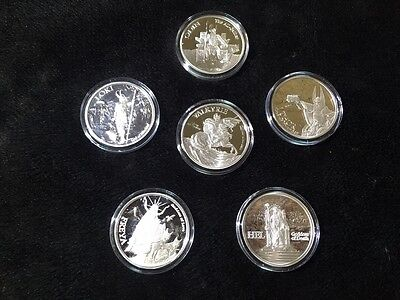 5 Oz Valkyrie Norse Gods Series Viking Complete Set 1-5