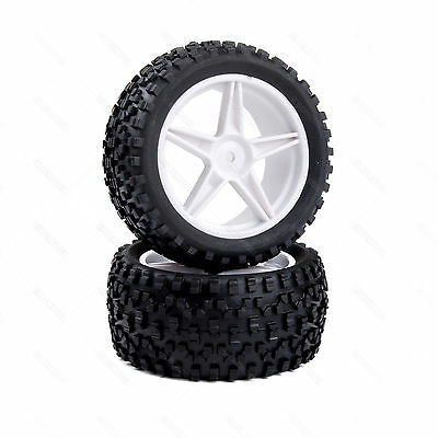 66022 REAR Wheel Complete 2 pcs White HSP buggy 1/10 06026