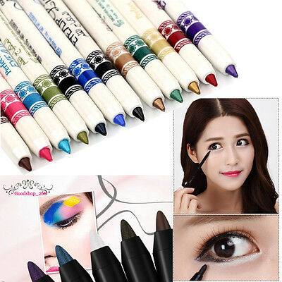 12 Colors Glitter Eyebrow Shadow EyeLiner Pencil Pen Cosmetic Makeup Set KitsKit