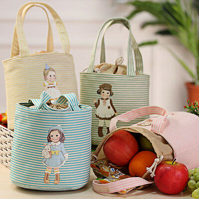 Portable Insulated Lunch Bags Thermal Cooler  Picnic Carry Tote Storage Bag Case