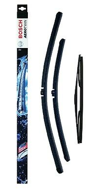 VAUXHALL ASTRA J SPORTS BOSCH Wiper Blade Set Front Rear Aerotwin HATCHBACK