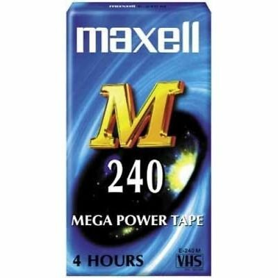 10pkt VHS VCR Video Tape Blank - E-240 by Maxell - 4hour