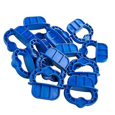 "12 x Kreg Deckspacer Deck Spacer Rings 5/16"" Blue with Handle for the Deck Jig"