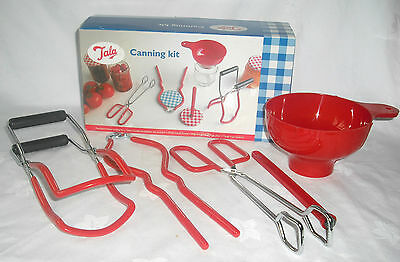 New Tala Home Canning Kit With Funnel Jar Tongs Lid Lifter Wrench Boxed