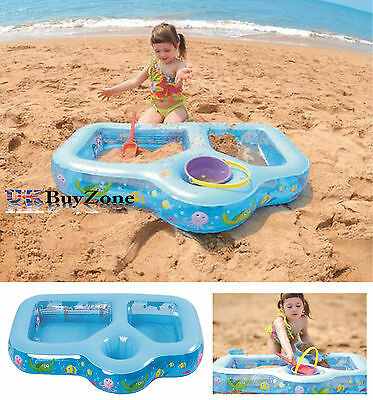 Kids Paddling Pool Toy Children Beach Sand Pit Play Garden Outdoor Water Fun New