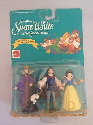 Vintage Walt Disney SNOW WHITE, Queen & Prince figures Mattel New Sealed Package