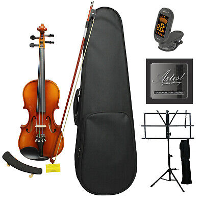Artist SVN34 Solid Wood Violin Ultimate Package 3/4 size - New
