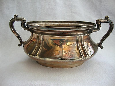 ANTIQUE 19thC SILVER PLATED TABLE SERVING SUCRIER SUGAR BOWL  A1.QUALITY M.W.&S.