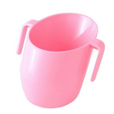 Bickiepegs Baby & Toddler Slanted Doidy Cup with Easy-Grip Handles - Pink