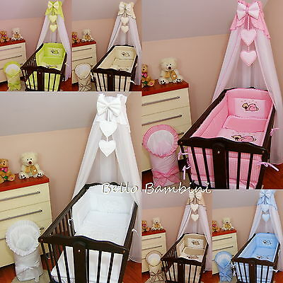 CANOPY drape-to fit baby cot swinging crib/wicker basket/craddle + CANOPY HOLDER