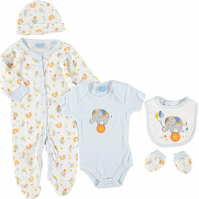 5 Piece  Baby Layette Clothing Gift Set Outfit Elephant Design by Rock A Bye