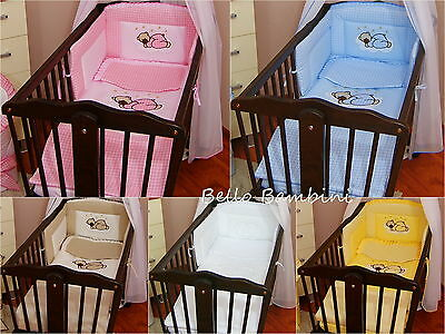 6 pcs bedding set /Bumper/sheet/duvet/ to fit baby swinging crib
