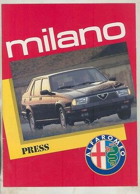 1987 Alfa Romeo Milano Press Reports Road Tests Brochure ww1546