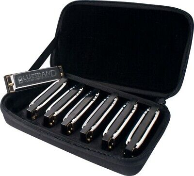 Hohner Bluesband Harmonica Set of 7 Harp Keys with Case Blues Band 1501/7