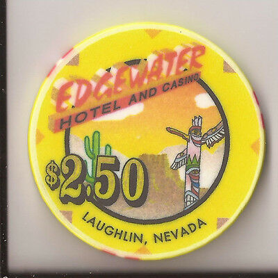 $2.50 Edgewater Laughlin, Nevada 1998 Casino Chip Tcr#n9574