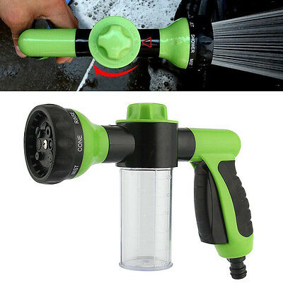 8 in1 Adjustable Spray Pattern Water Gun&Soap Dispenser Hose Nozzle Car Wash GN