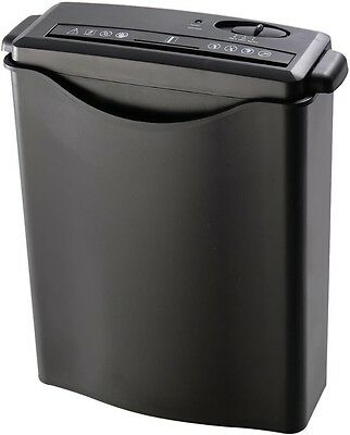 New 8 Sheet Strip-Cut Paper/Credit Card/Staples Shredder w/ Basket Home Office
