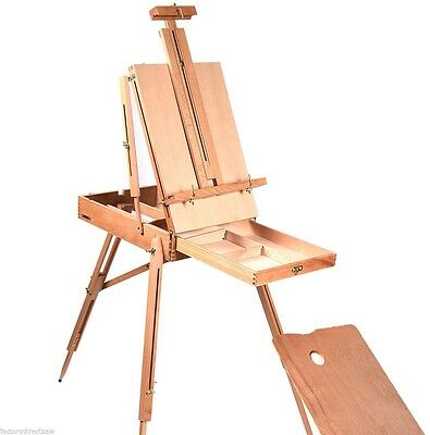 New French Easel Wooden Sketch Box Portable Folding Art Artist Painters Tripod