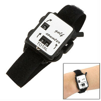 New Golf Score Stroke Keeper Count Watch Putt Counter Shot With Wristband