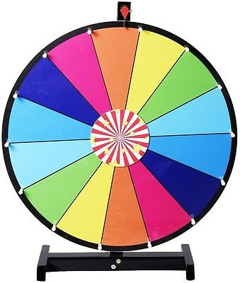 New Editable Dry Erase 24 Color Prize Wheel of Fortune Spinning Game Tradeshow