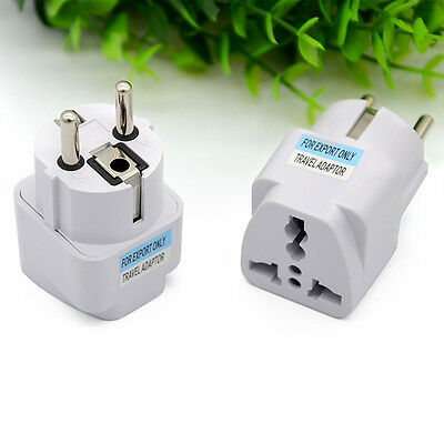 USA US UK AU To EU Europe Travel Power Charger Adapter Converter Home Wall Plug