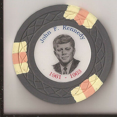 President Jfk John F. Kennedy Fantasy Casino Chip