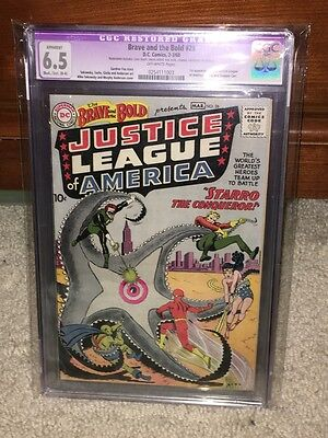 Brave and the Bold #28 CGC 6.5 (R) DC 1960 1st Justice League of America! F8 cm