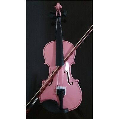 Student Acoustic Violin Full 1/4 Maple Spruce with Case Bow Rosin Color Pink