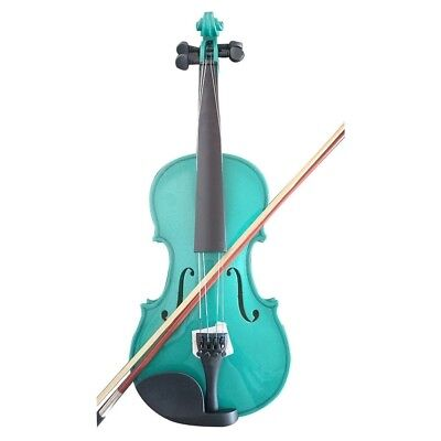 Student Acoustic Violin Full 1/4 Maple Spruce with Case Bow Rosin Color Green