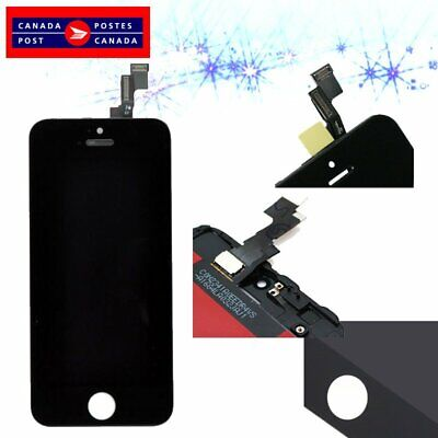 Touch Screen Digitizer + LCD Display Assembly for iPhone 5S Replacement Black CA