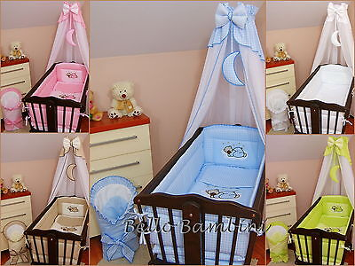 CribCanopyDrape + All RoundBumper260cm long for Swinging Crib/Cradle 100% COTTON