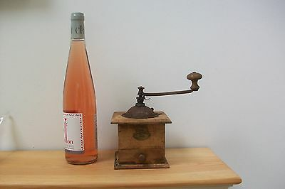Vintage French Peugeot Wooden Coffee Grinder Rustic #68 country kitchen