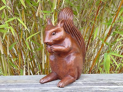 Wooden Hand Carved Squirrel 16cm.....