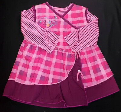 Dizzy Daisy baby girl dress top outfit set pink purple 6-12 month