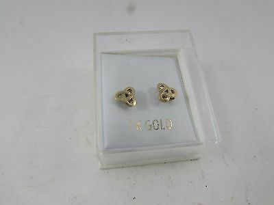 Genuine Solid 9K Yellow Gold New Studs Earrings Boxed