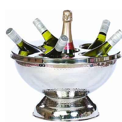 Champagne Wine Bottle Cooler Ice Bowl Stainless Steel Eye Catching Centrepiece