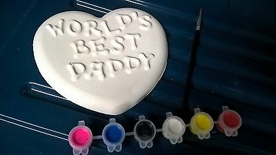 Father's day ready to paint plaster plaque kit