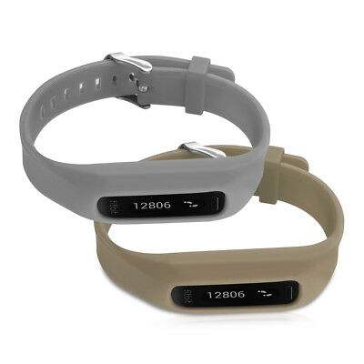kwmobile  2X SILICONE SPARE BRACELET FOR FITBIT ONE GREY FITNESS CLOCK CLASP