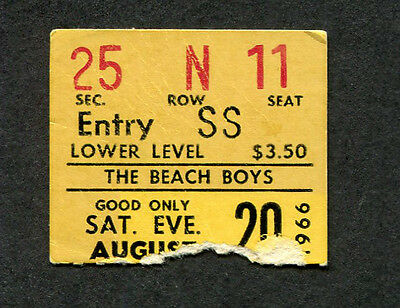 1966 The Beach Boys Concert Ticket Stub Portland Pet Sounds Wouldn't It Be Nice