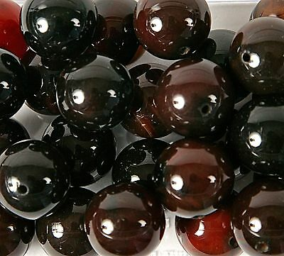 Pack of 10 Agate 20mm Beads for Jewellery Making (B44)