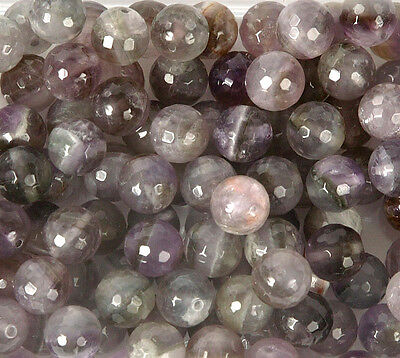 Pack of 10 Amethyst 10mm Beads for Jewellery Making (T8L)