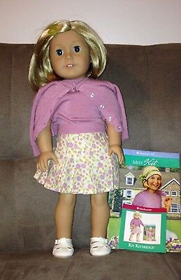 """American Girl 18"""" Kit Kittredge Doll Original Box & Book Meet Outfit Extra Book"""