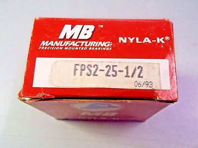 New MB Manufacturing Nyla-K Precision Mounted Bearing FPS2-25-1/2