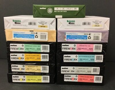 Assorted Colored Copy Paper 8.5 x11 5000 Sheets Pink Green Lilac Yellow Blue New