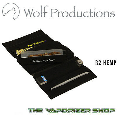 Wolf Productions Rolling Kit Tray Box Pouches Wallet R2 in Black