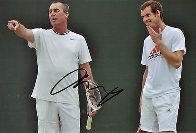 Andy Murray Signed 8X12 Inches Tennis Photo with Ivan Lendl